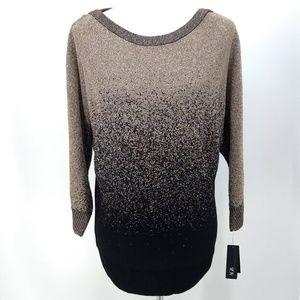 New AGB XL Sweater Silver Black Hombre Tunic